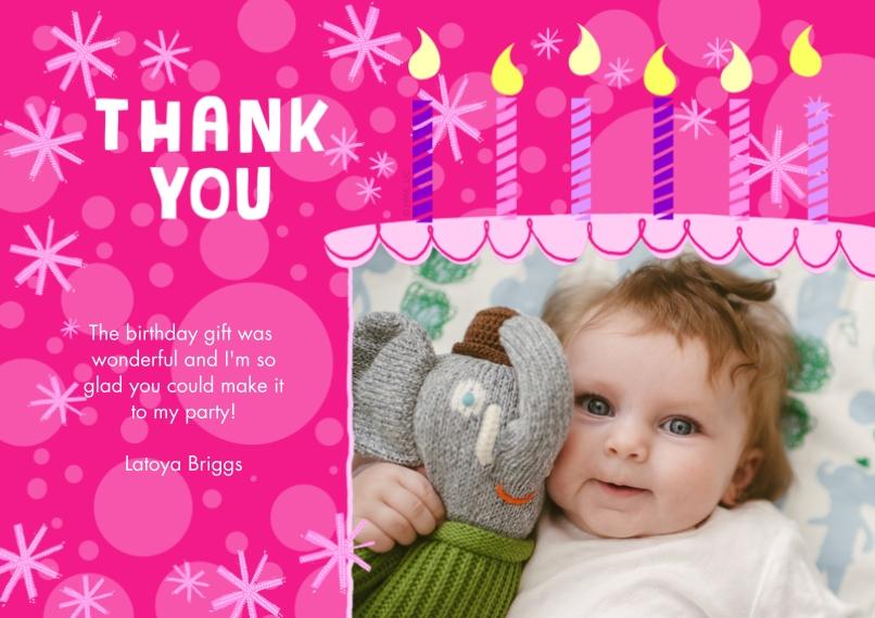 Thank You Cards Personalized Thank You Cards – Thank You Birthday Cards