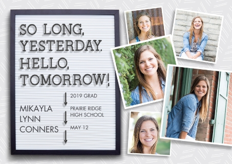 graduation announcement cards photo grad announcements cvs photo