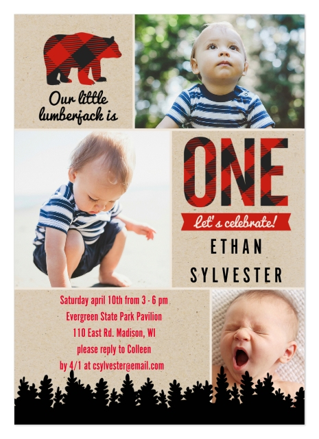 Boy First Birthday Invites Set Of 20 2 Sided Cardstock Cards