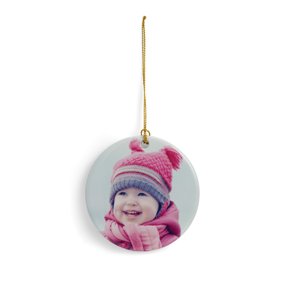 Icon Flat Round  Ornament
