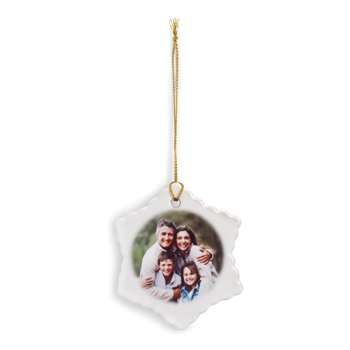 Flat glass ornaments - Flat Snowflake Ornament