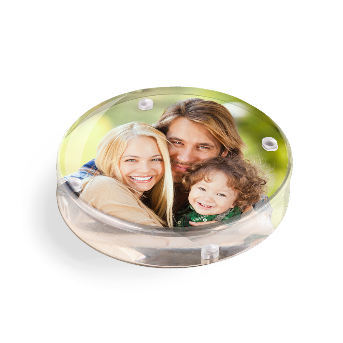 Icon Acrylic Round Paperweight