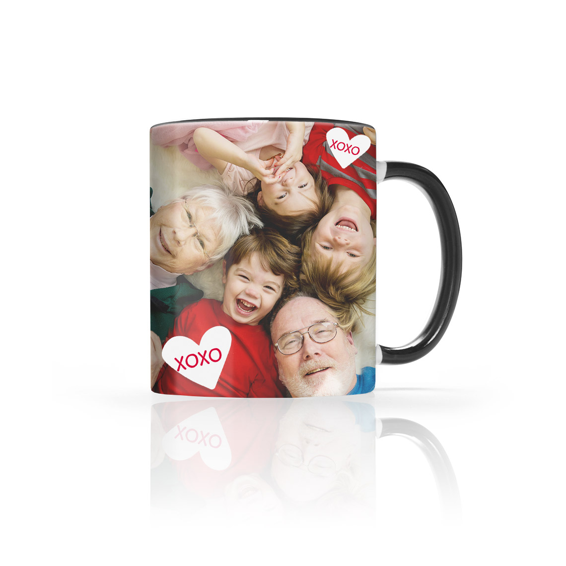 Icon 11 Oz. Black Photo Mug
