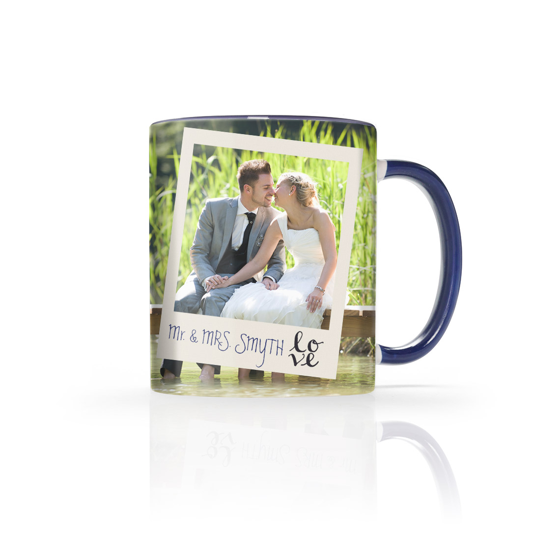 11 Oz. Navy Blue Photo Mug