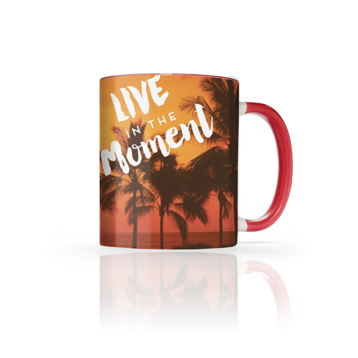 Icon 11 Oz. Red Photo Mug