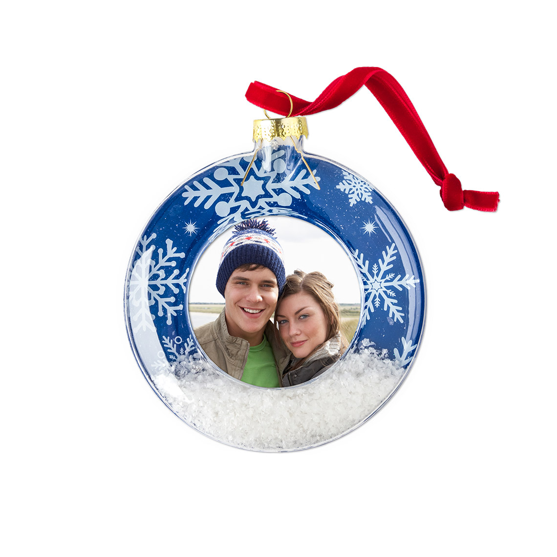Icon Snow Scene Ornament