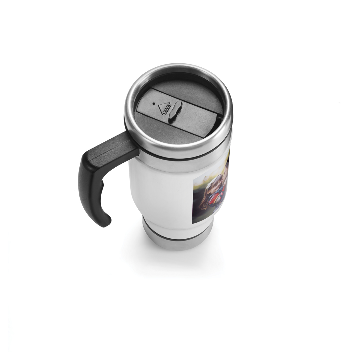13 oz steel travel mug