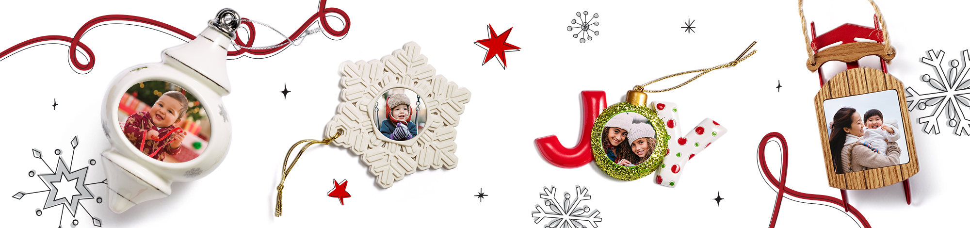 Ornaments make the perfect holiday photo gift