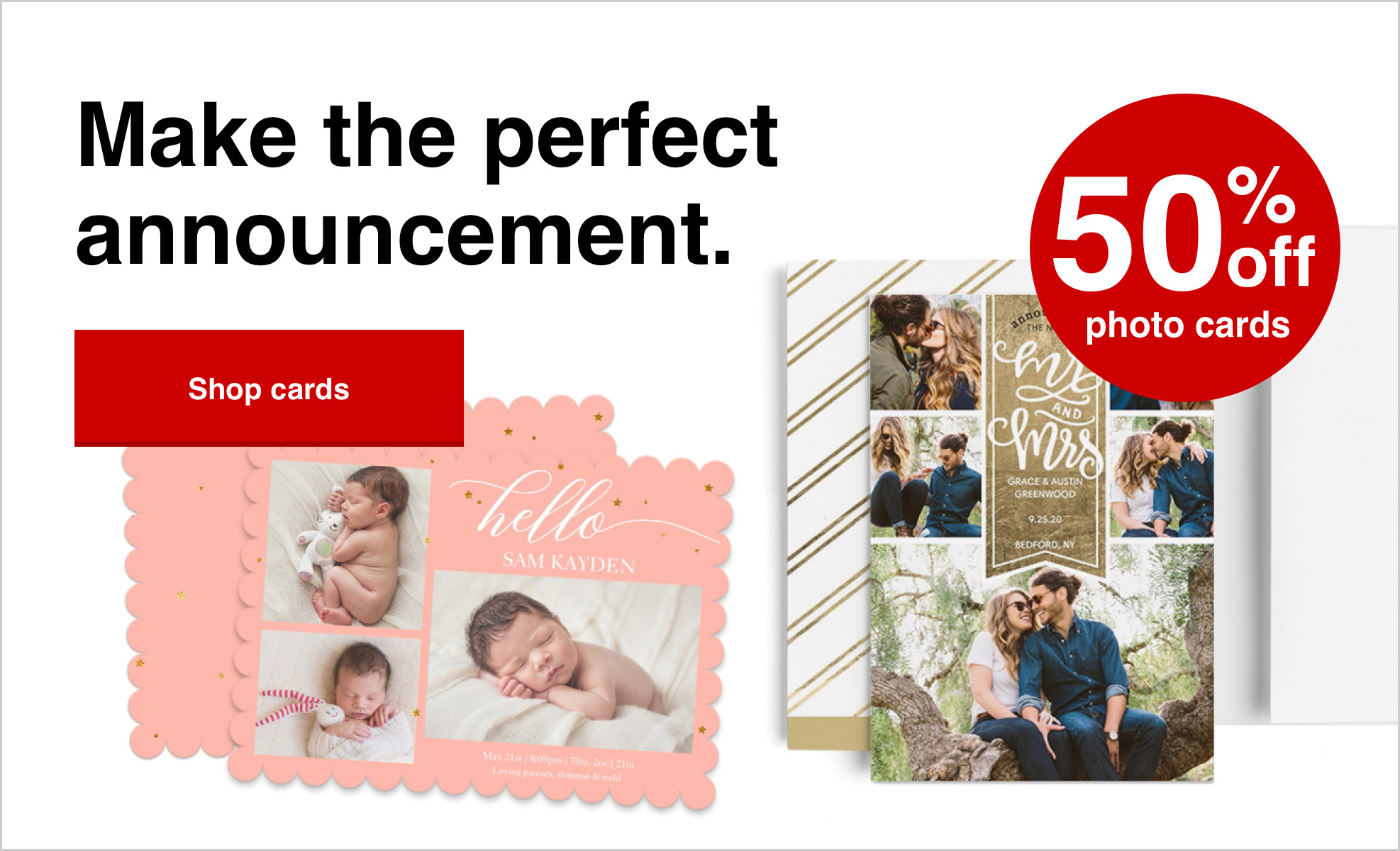 50% off cards with Promo Code GREETING50 Offer ends 4/17/21.