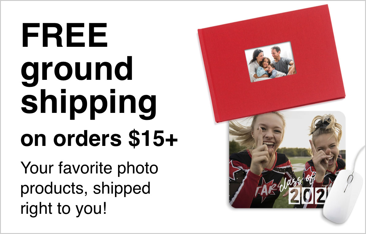 Free Ground Shipping  on Orders $15+ with Promo Code: SHIPIT   Offer ends 5/30/20. cvs-photo-coupons