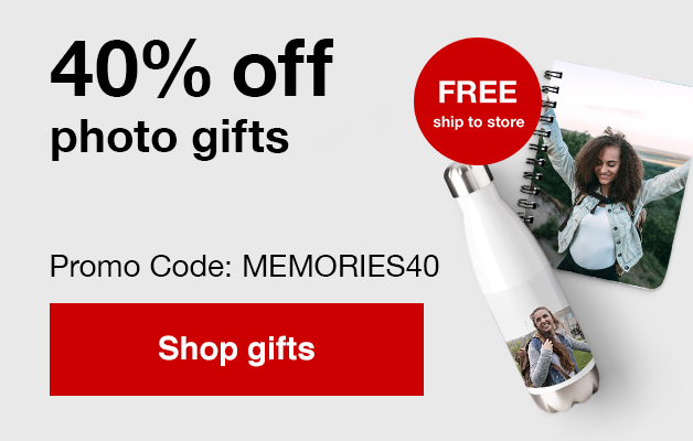 40% off gifts with Promo Code MEMORIES40   Offers end  8/24/19.