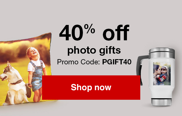 40% off Photo gifts. Use Promo Code PGIFT40   Offer ends 8/25/18.