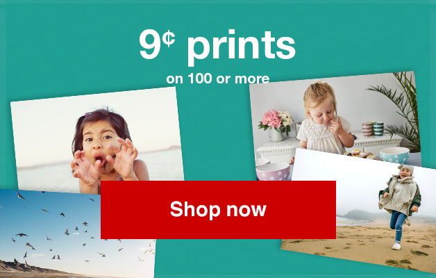 9¢ 4x6 prints (min. 100) with Promo Code PRINTNOW9  Offer ends 9/29/18.