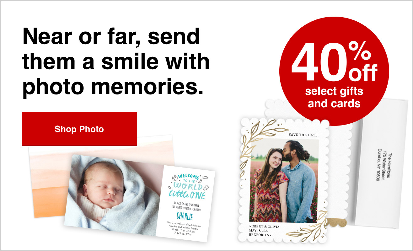 Get 40% off your personalized photo cards with Promo Code SD40 | Offer ends 9/25/21.