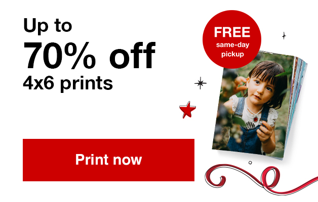 13¢ 4x6 prints (min 50) with Promo Code SMILE13 Offers end  10/26/19.