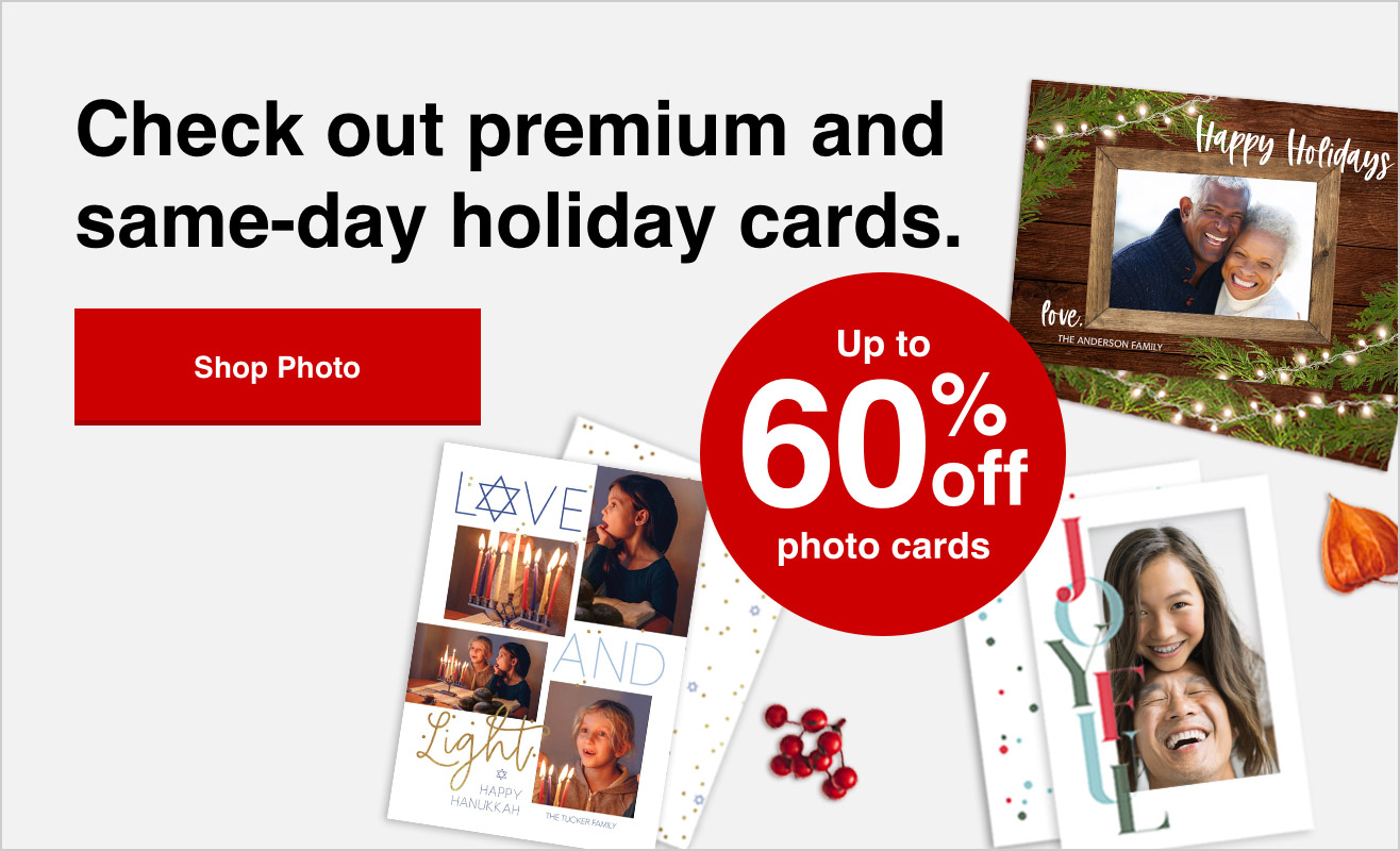 60% off cards orders of $40+ with Promo Code TAKE60 | Offer ends 10/23/21.