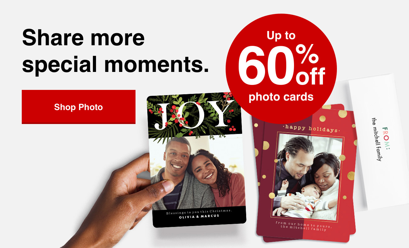 60% off cards orders of $40+ with Promo Code 40PLUS | Offer ends 10/30/21.