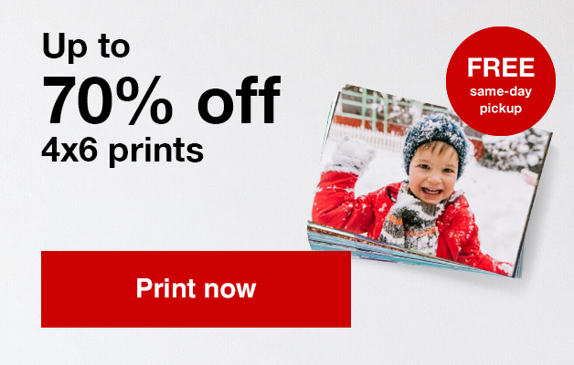 13¢ 4x6 prints (min 50) with Promo Code PRINTS13 Offers end 1/25/20.