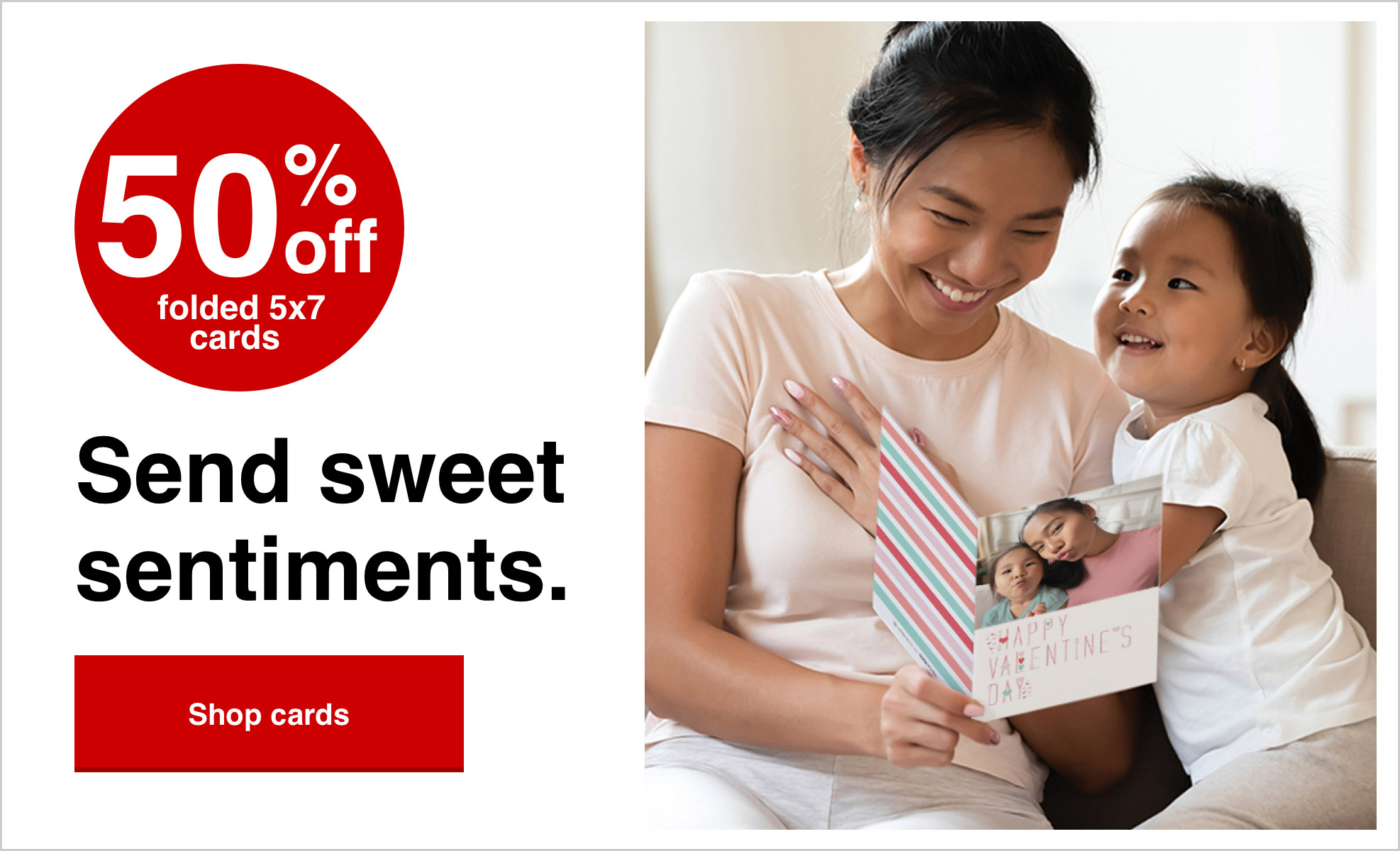 50% off cards with Promo Code 50CARDS Offer ends 1/30/21. Shop now >
