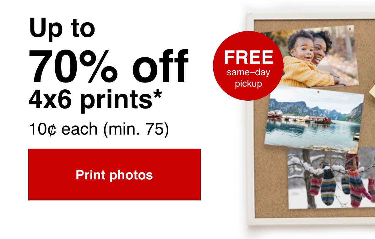10¢ 4x6 prints (min 75) with Promo Code 10CENTS Offer ends 2/22/20.