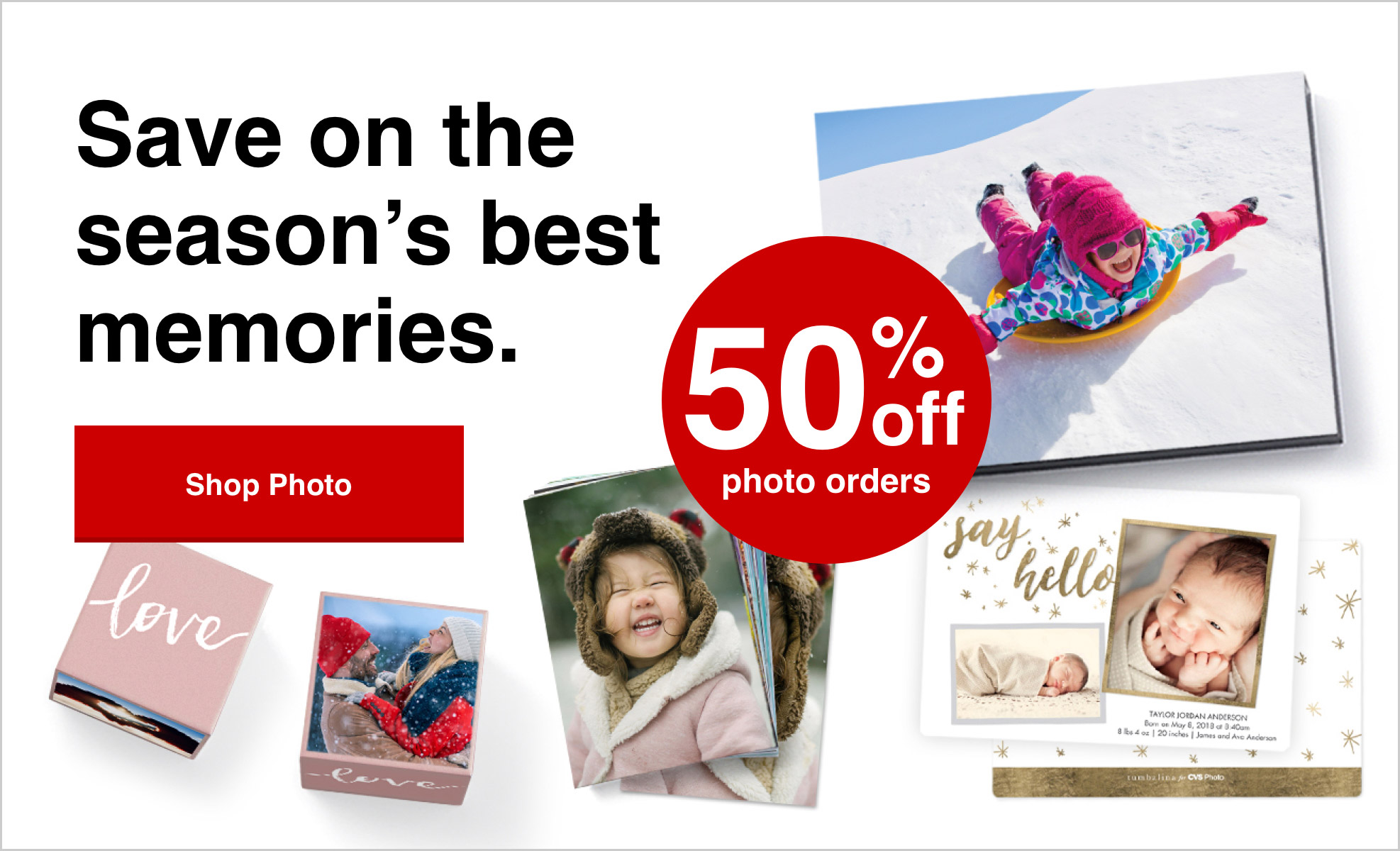 This week only, 50% off all Photo orders with Promo Code: AMAZING50 Offer ends 2/27/21.