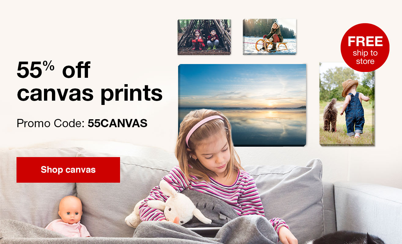 55% Off Canvas Prints with Promo Code 55CANVAS. Offer ends 2.24.18.