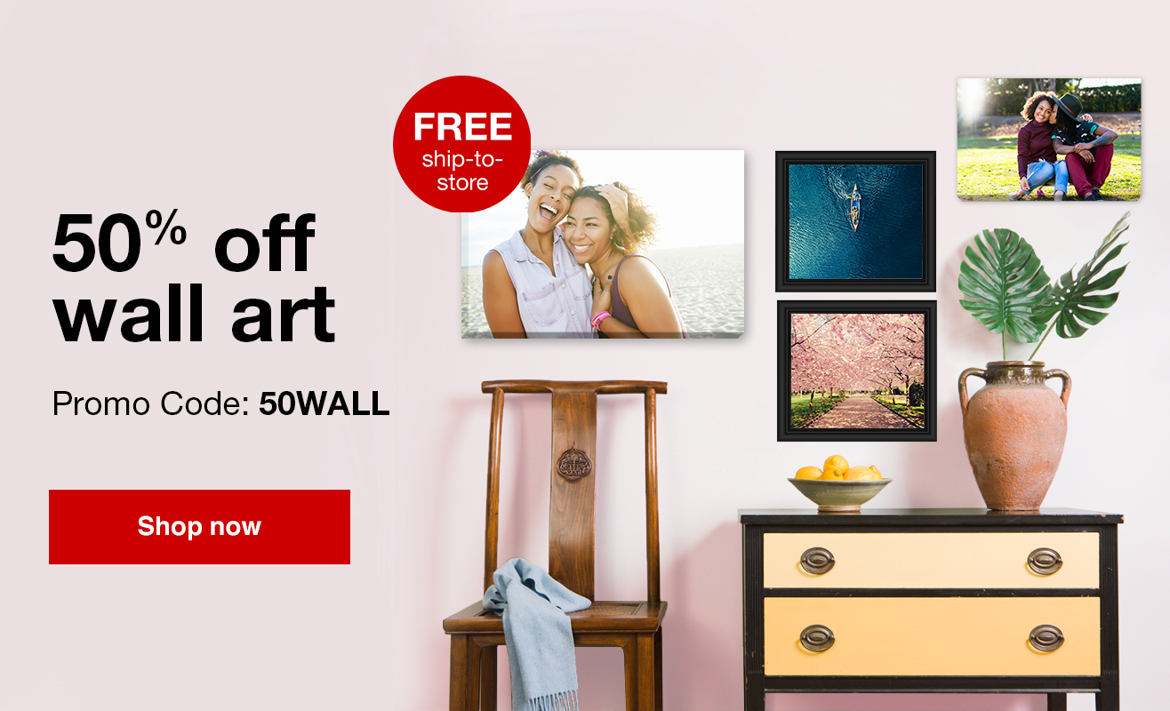 Amazing Deal! 50% Off Wall Art with Promo Code 50WALL. Offer ends 3.24.18.