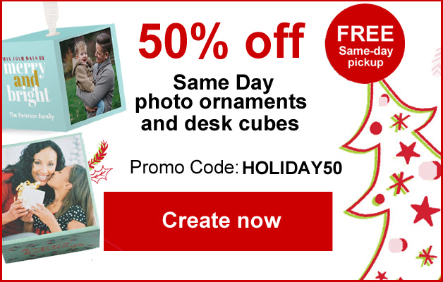 Save 50% on our newest gift items, plus pick them up same day!