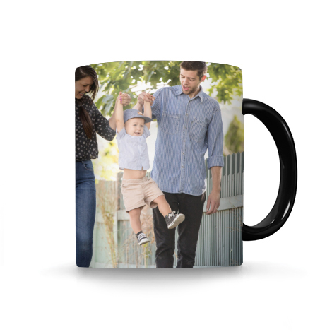 11 Oz. Black Photo Mug