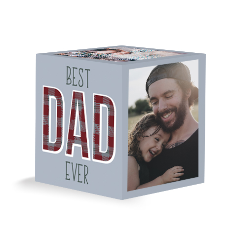 Best Dad Ever Photo Cube