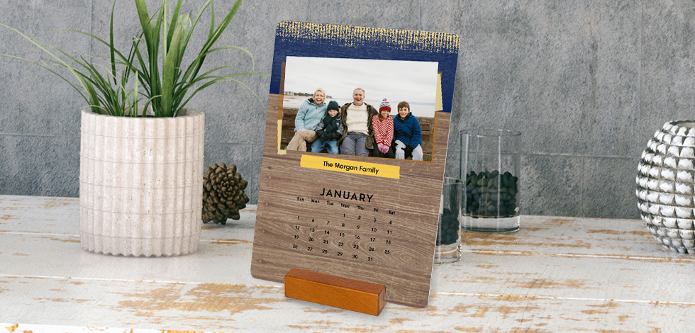 Stay on top of your schedule in style with a custom Woodblock Calendar