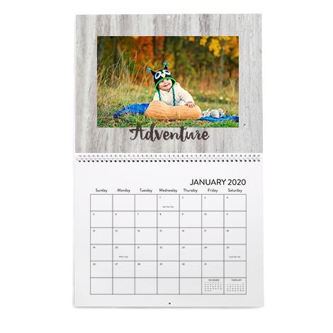 8.5x11 Classic Wall Calendar