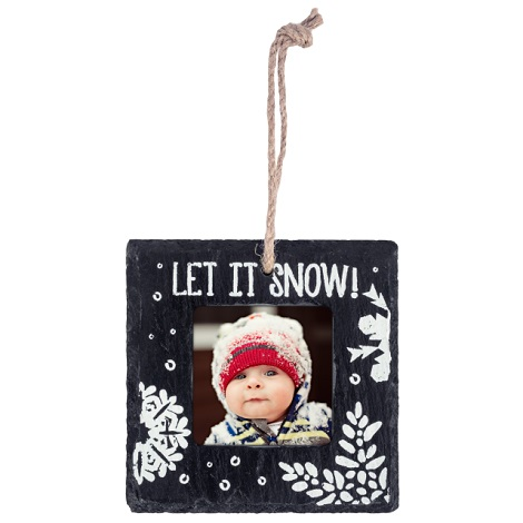 Slate Let It Snow Ornament