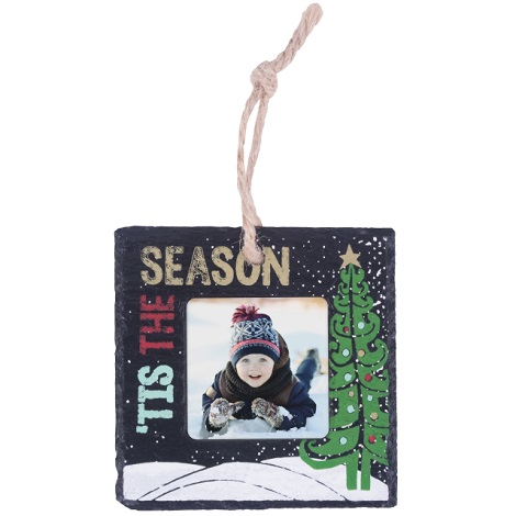 Slate Tis the Season Ornament