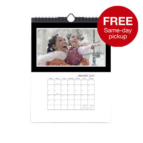 8x10 single sided calendar