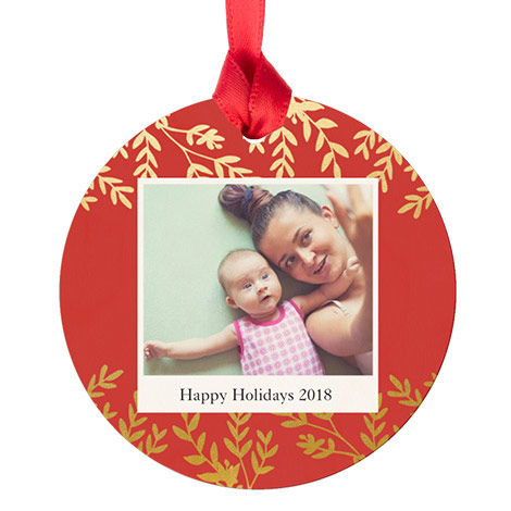 Maple Round Ornament