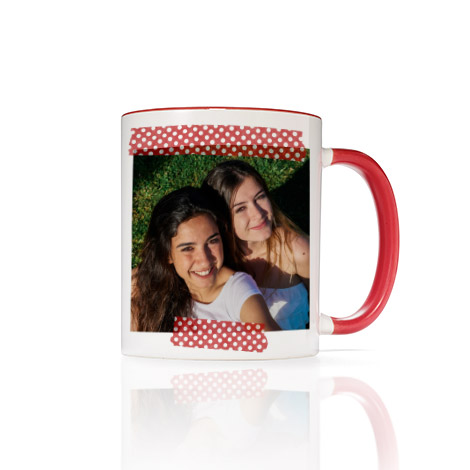 11 Oz. Red Photo Mug