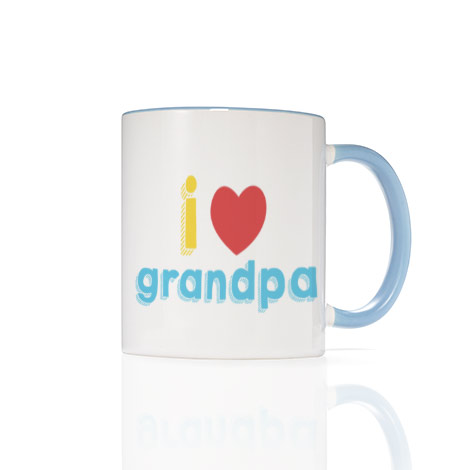 11 Oz. Light Blue Photo Mug