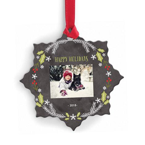 Metallic Snowflake Ornament