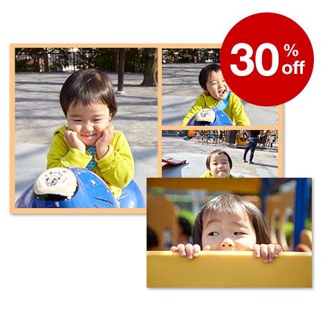 30% off enlargements, collages & wallet prints