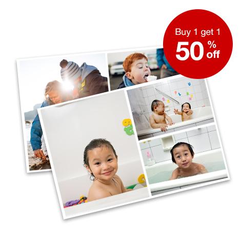 BOGO 50% off enlargements, collages and wallet prints