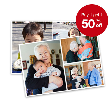 BOGO 50% off enlargements, collages & wallet prints