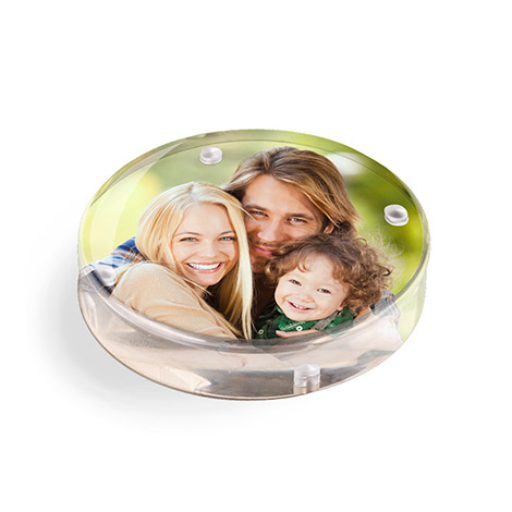 Acrylic Round Paperweight