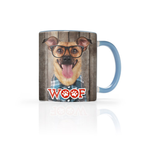 Icon 11 Oz. Light Blue Photo Mug