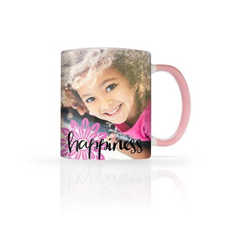 11 Oz. Pink Photo Mug