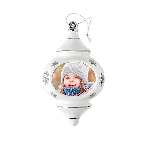 Porcelain Tear Drop Ornament