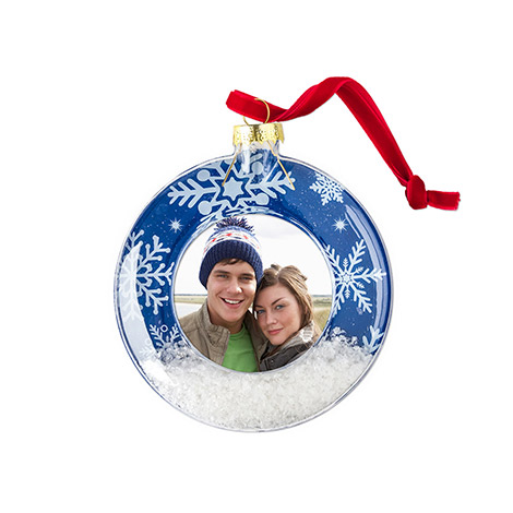 Acrylic Snow Scene Ornament