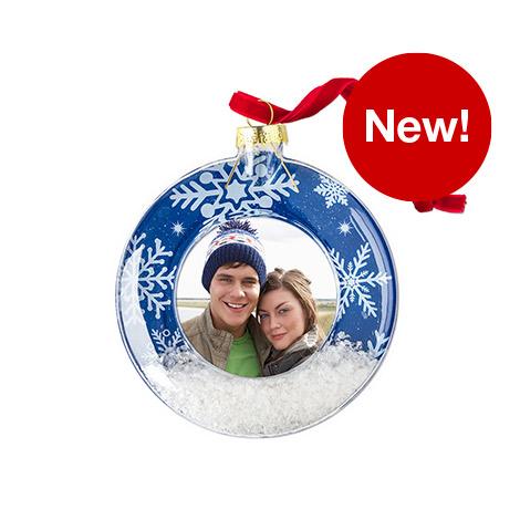 Acrylic Snow Scene Ornament