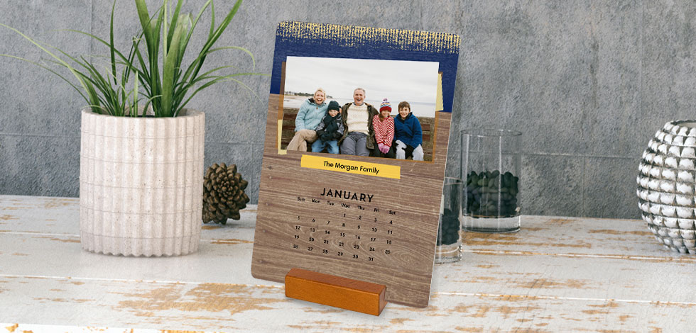 custom Woodblock Calendar