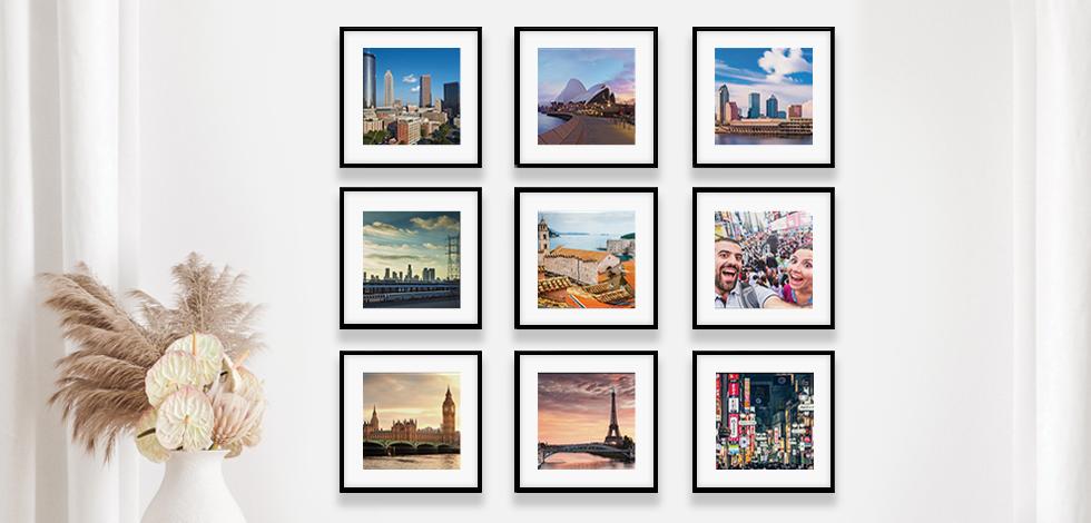 Set of Nine Wall Tiles